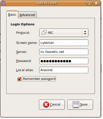 IRC Account Creation